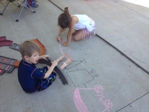 Payton Drawing Trains for Bri