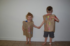 Daddy, tell mommy to never ever ever ever make me wear a paper bag again!!!
