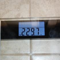1st week - loss of 3.6 lbs
