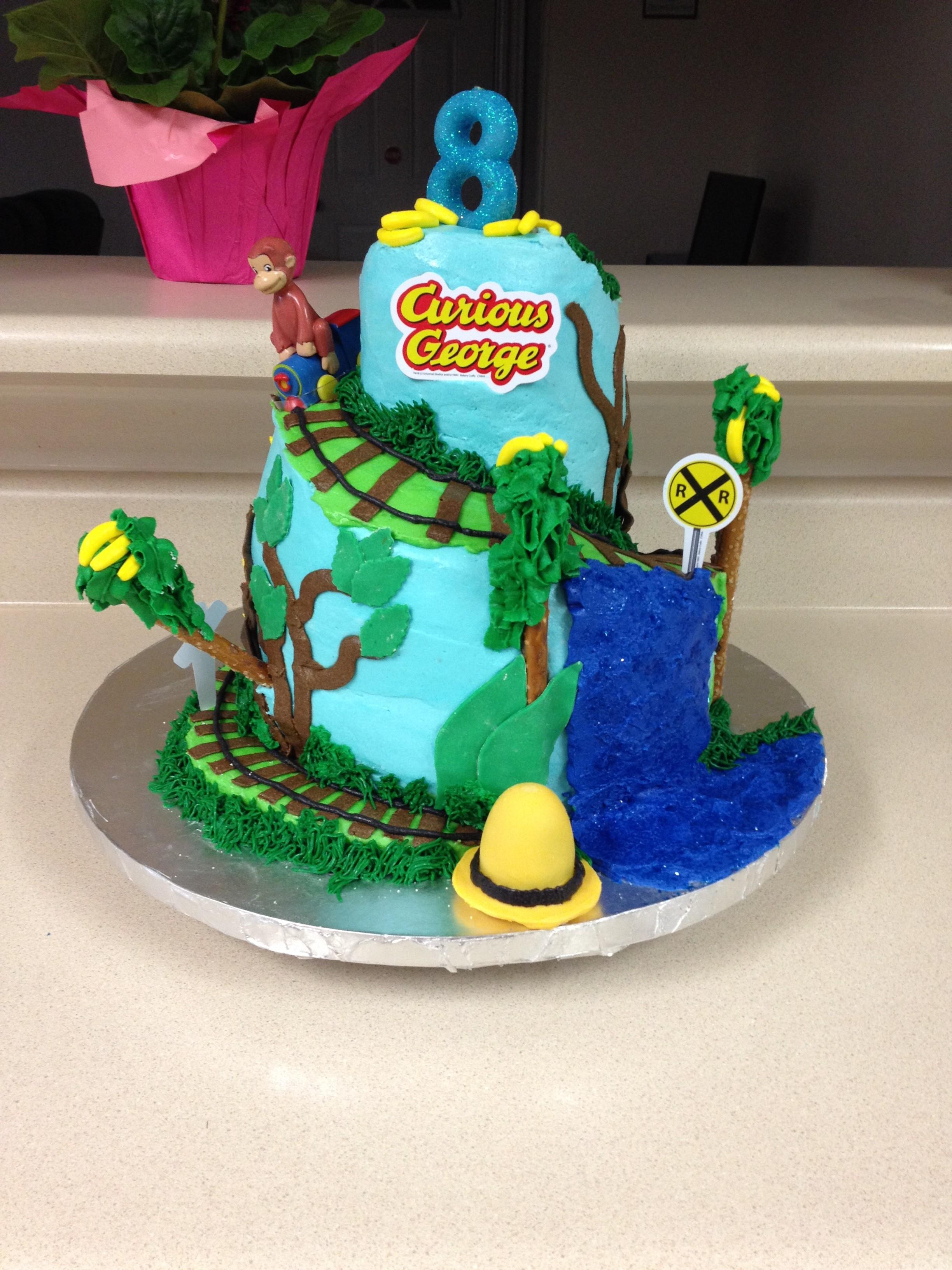 Curious George Train Cake Topper