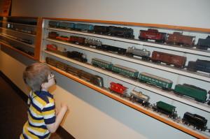 Brian enjoying his favorite thing - TRAINS!